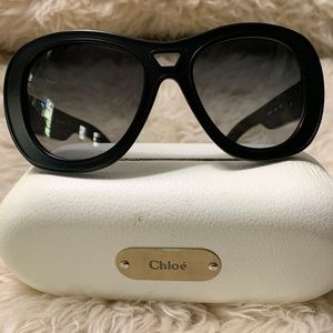 Chloe Sunglasses in Black with Case
